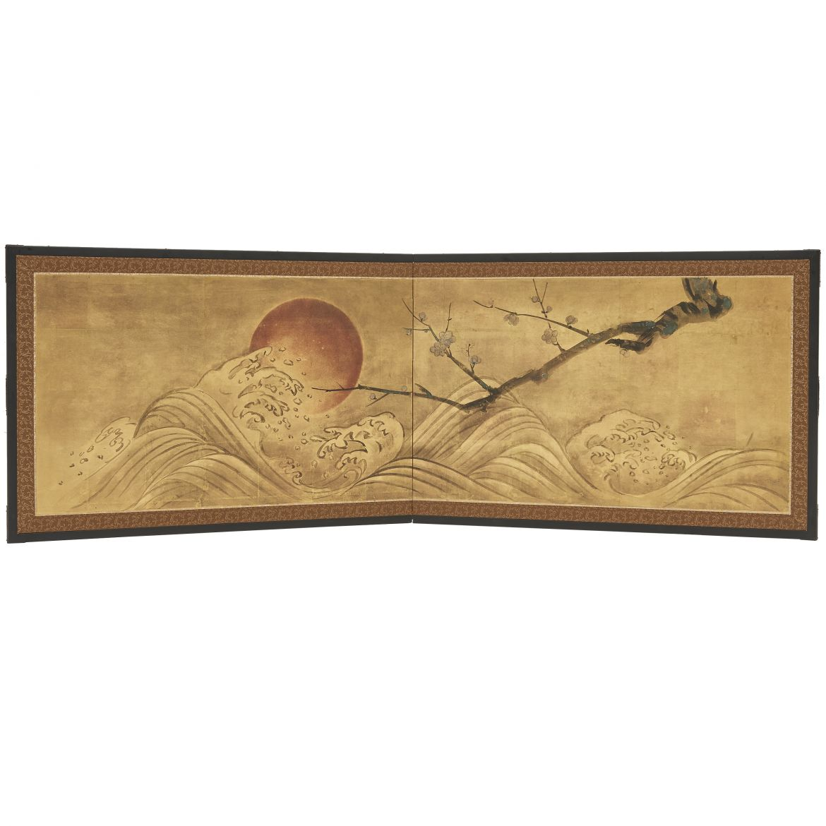 Japanese Screen With Moon