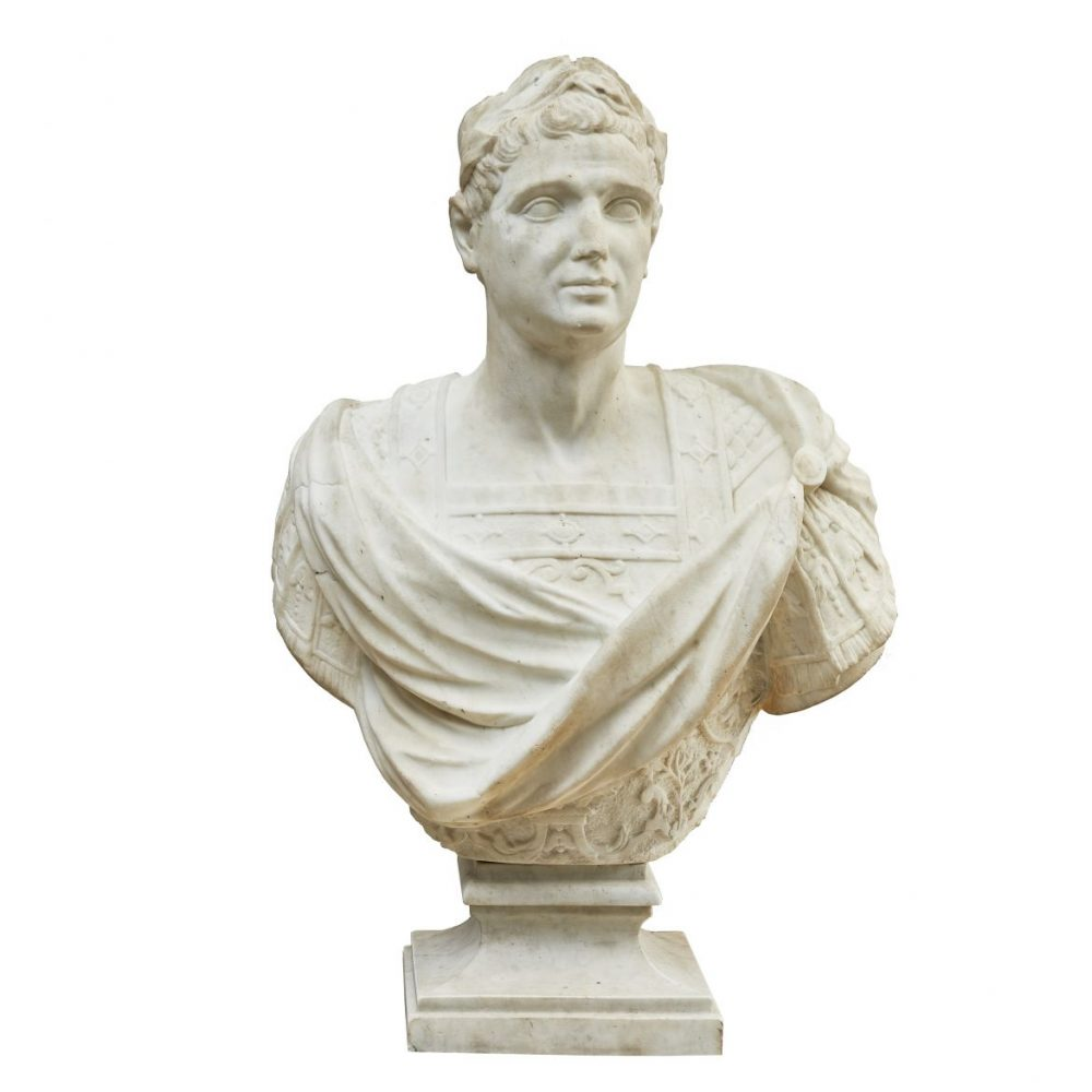 Italian Marble Bust Of Nobleman As Caesar