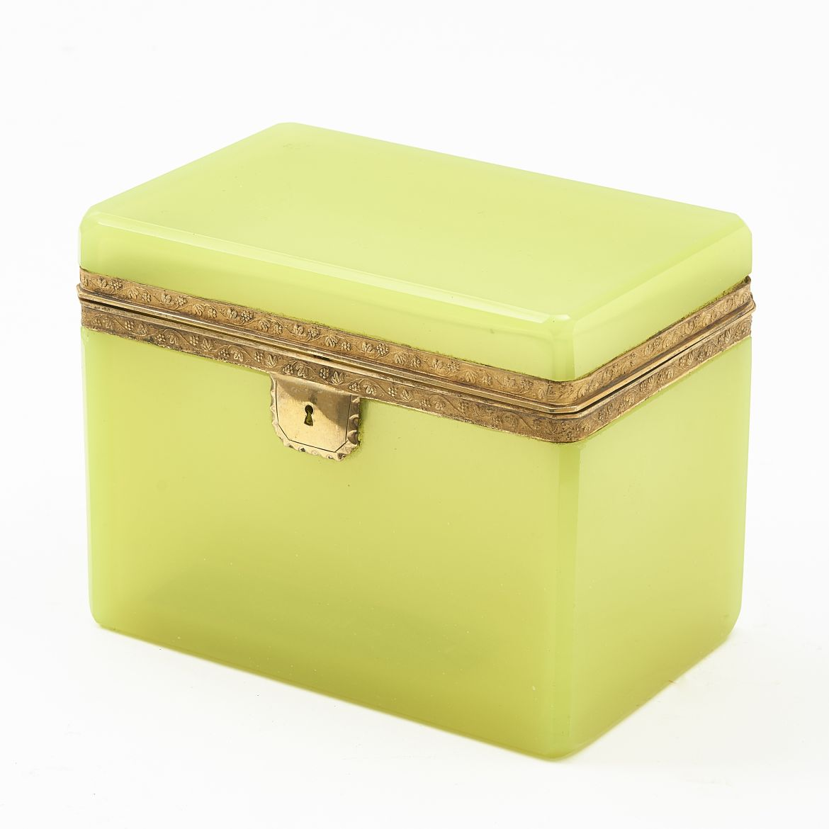 Opaque Yellow Glass Casket