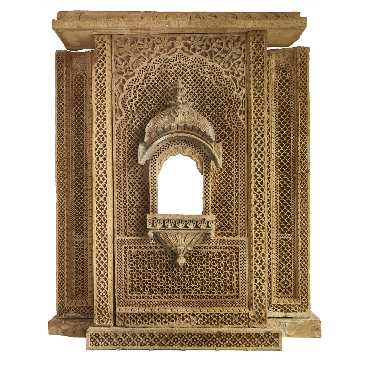 Indian Carved Sandstone Window Surround