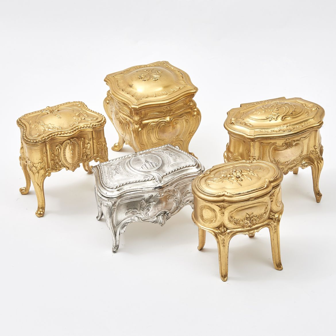 Collection of Miniature Commode Jewellery Boxes