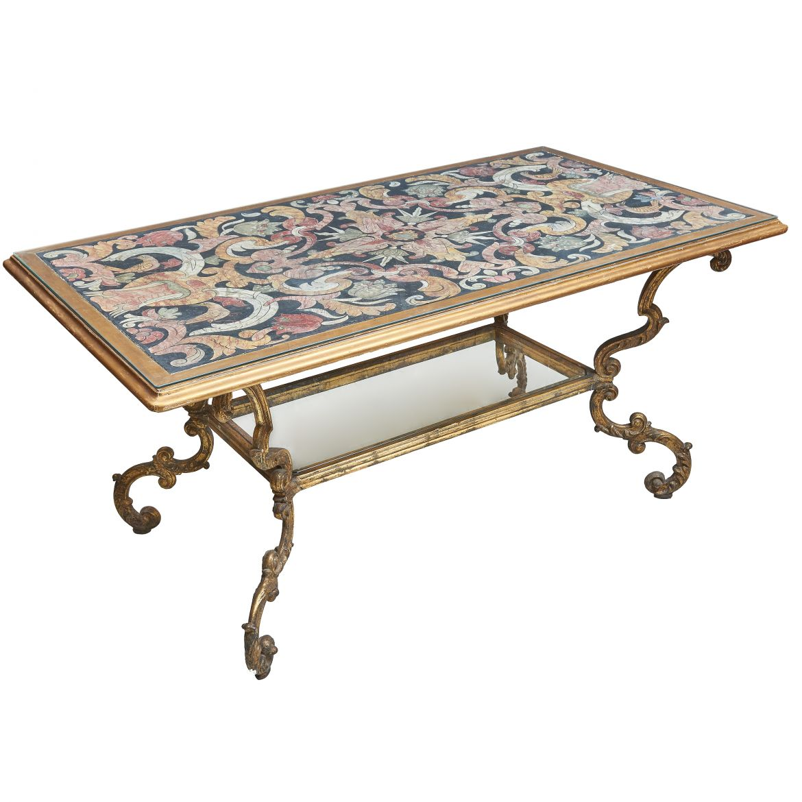 Italian Faux Scagliola Top Table