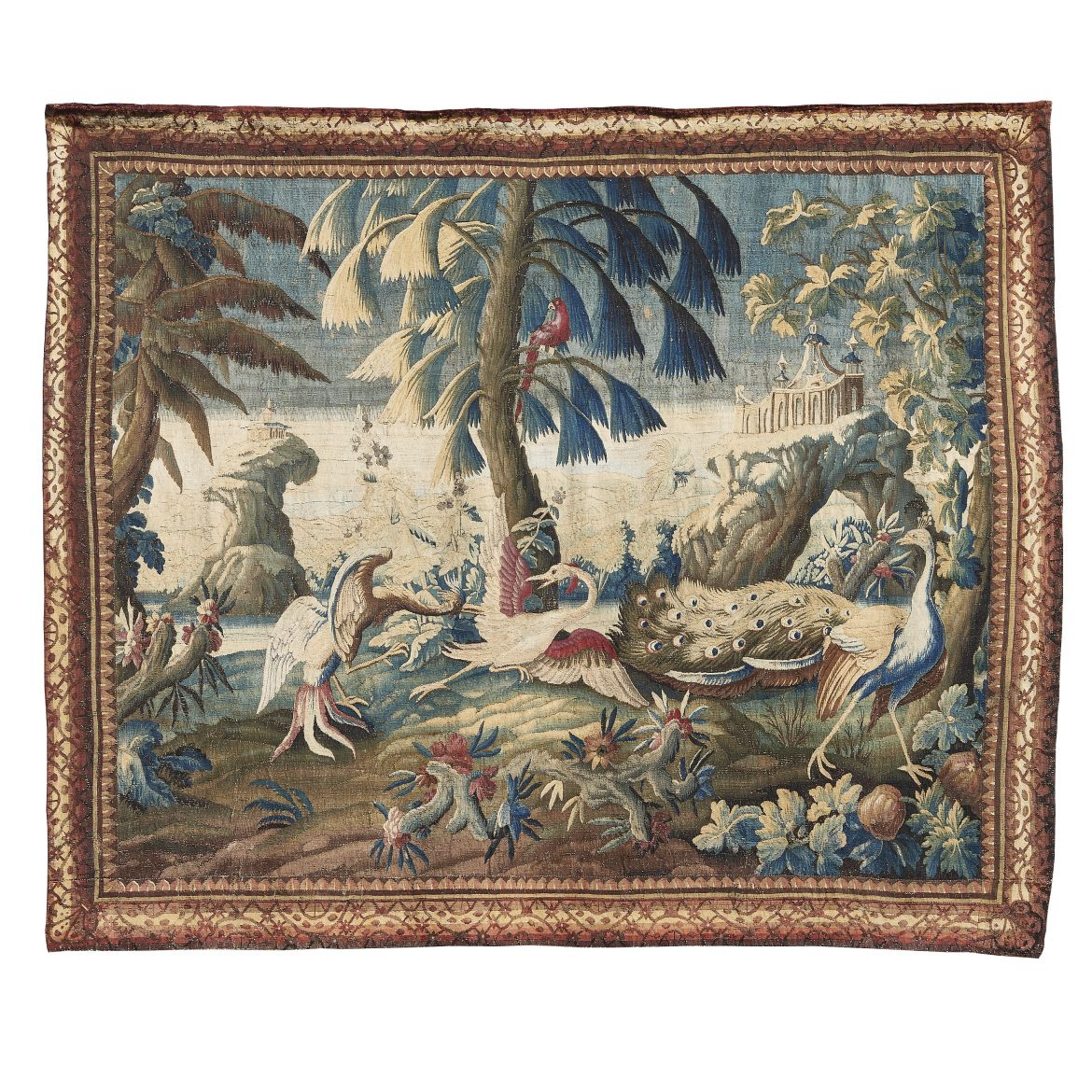 French Aubusson Tapestry With Birds