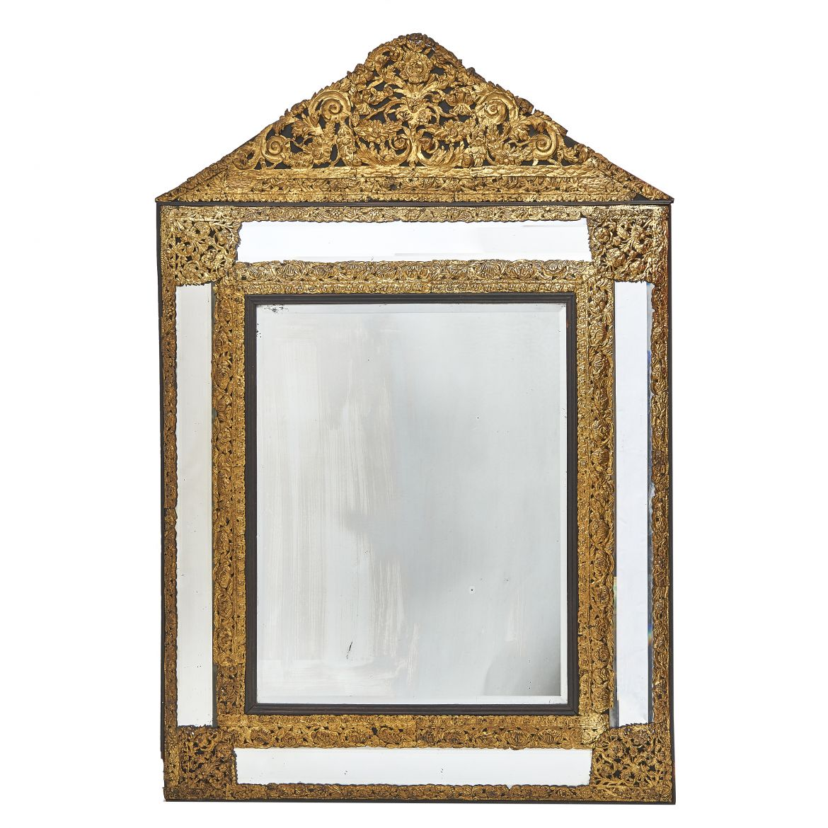 Dutch Brass Repoussé Mirror
