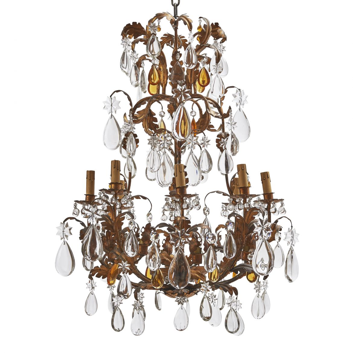 Small Parcel Gilt Chandelier