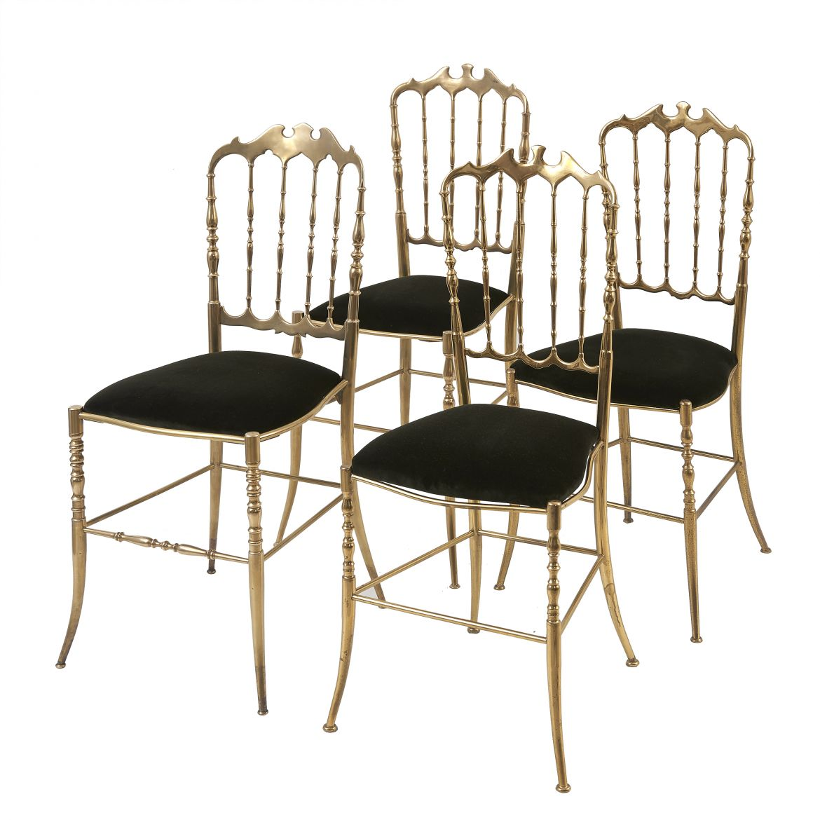 Matched Set Brass Chiavari Chairs