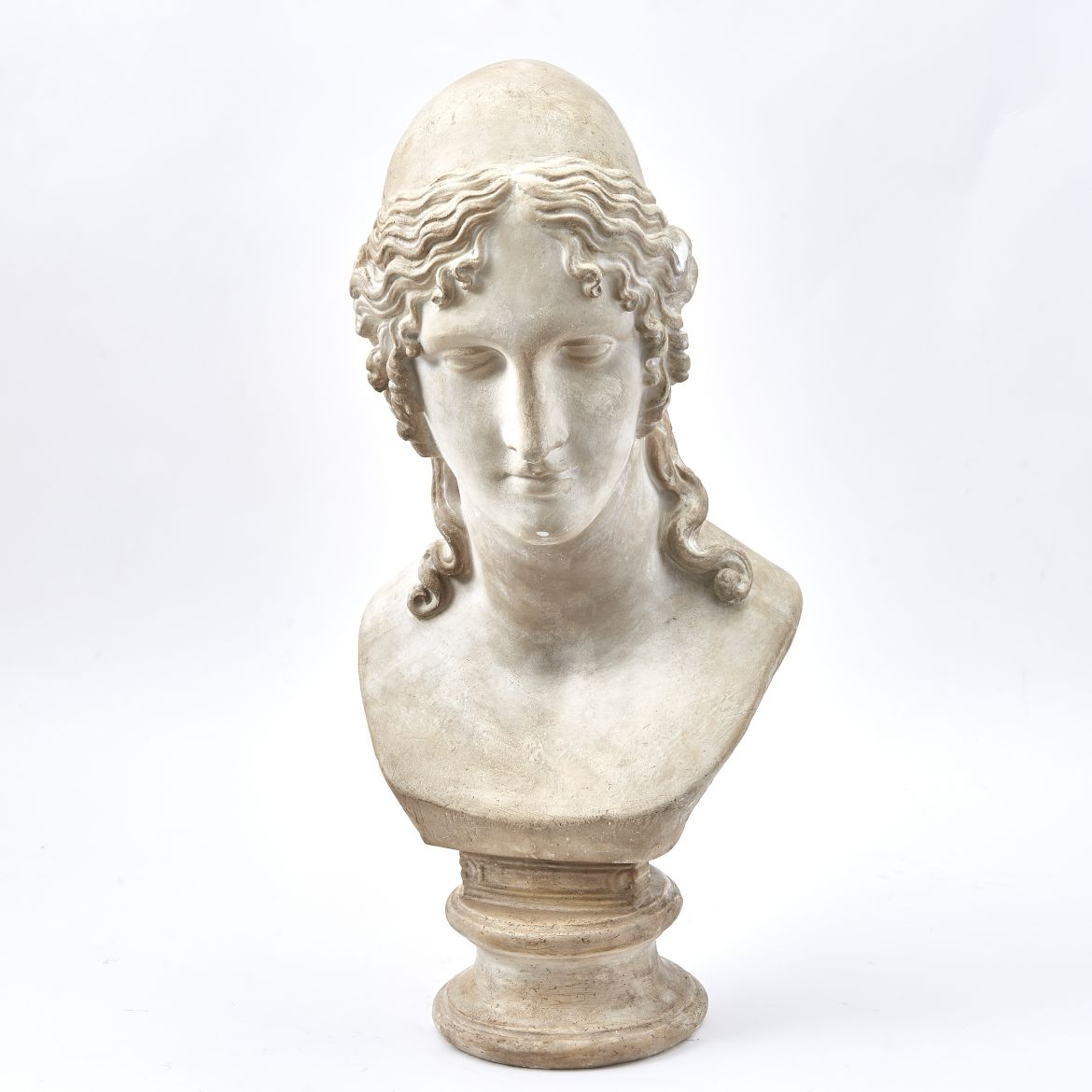 Plaster Bust Of Female Figure
