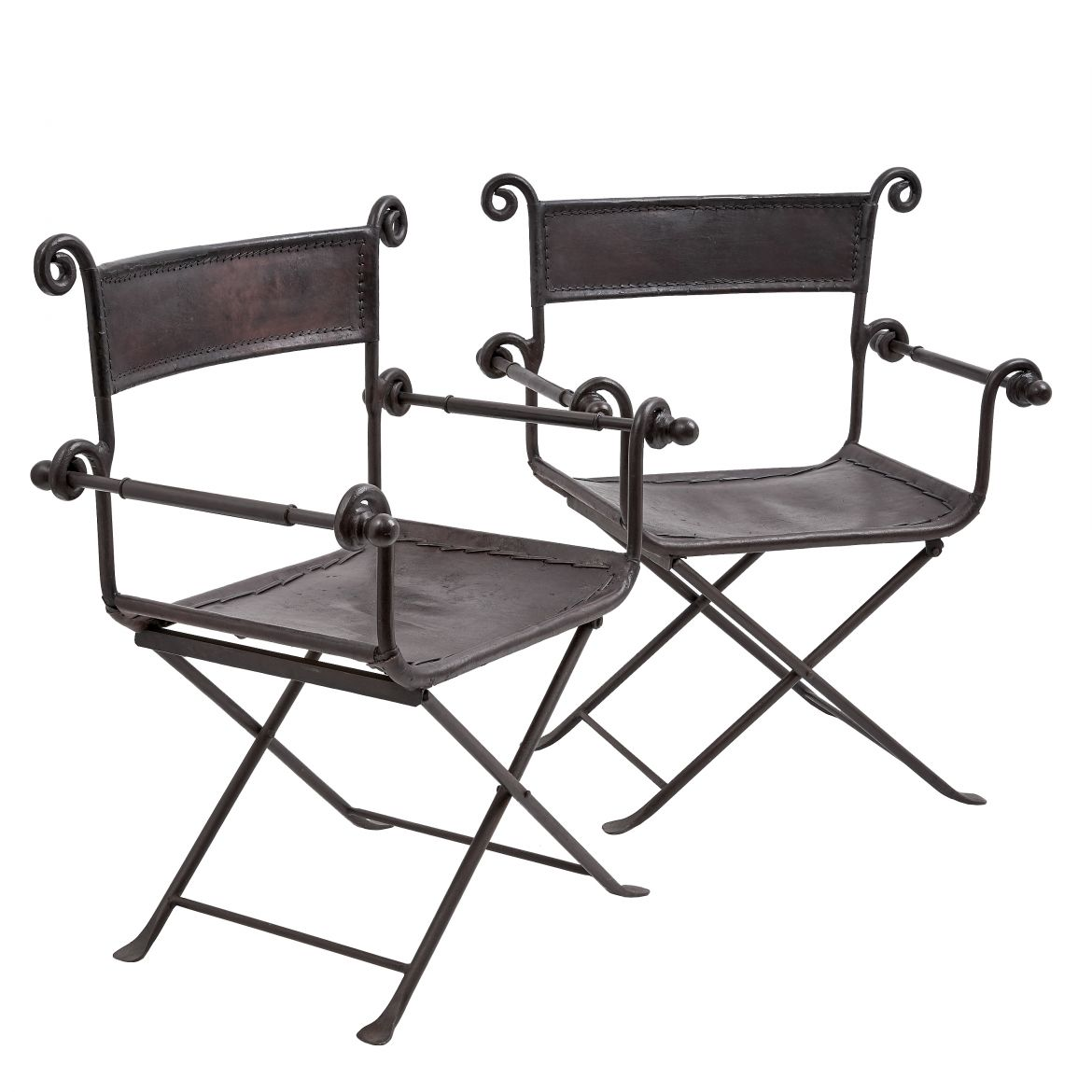 Pair Spanish Folding Chairs