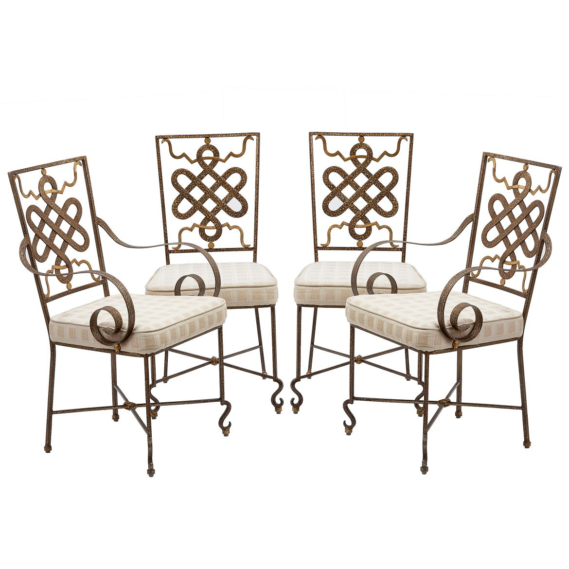 Four Lacquered Iron Chairs