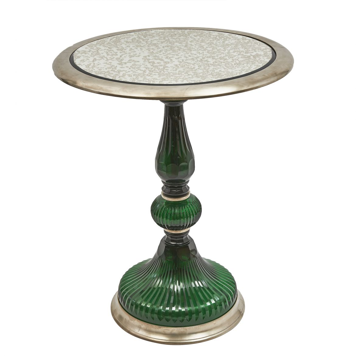 Green Glass Side Table