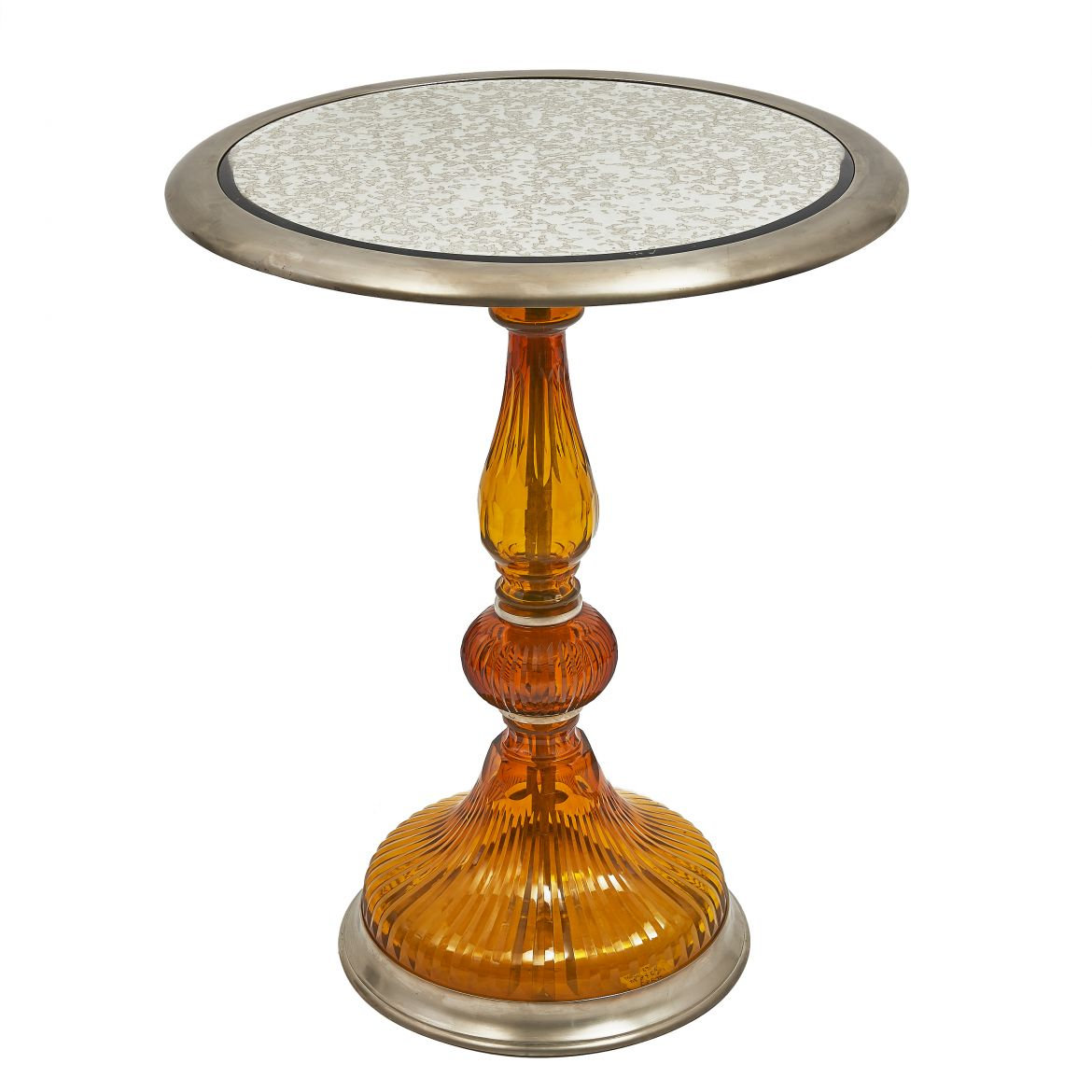 Amber Glass Side Table