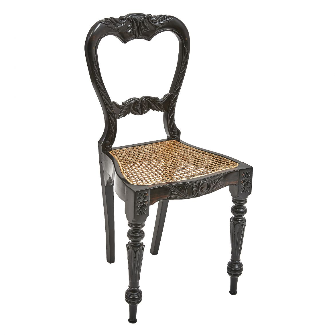 Dutch Colonial Ebony Chair