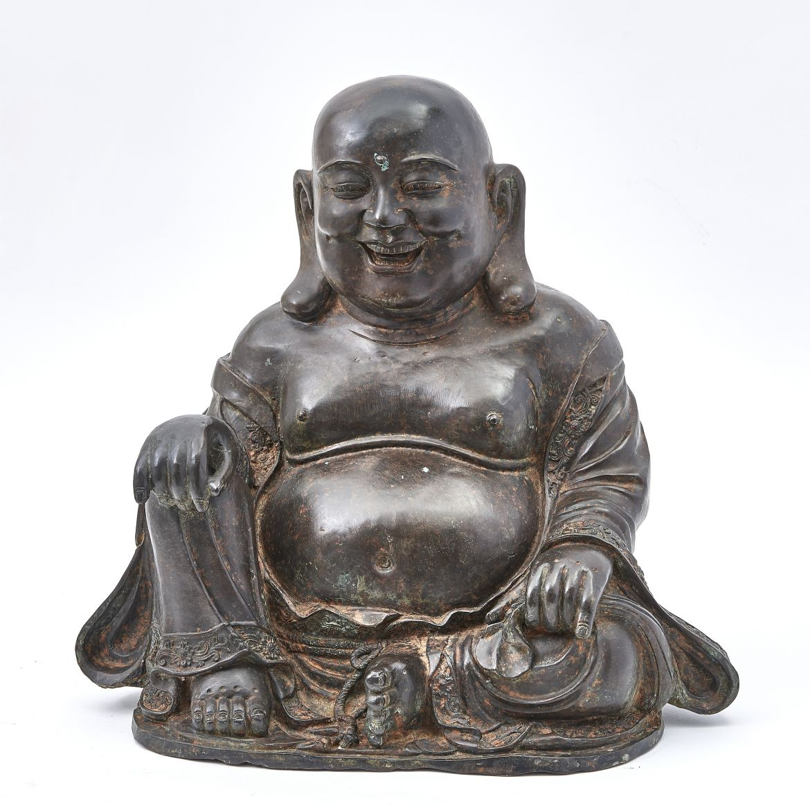 Chinese Bronze Laughing Buddha Statue