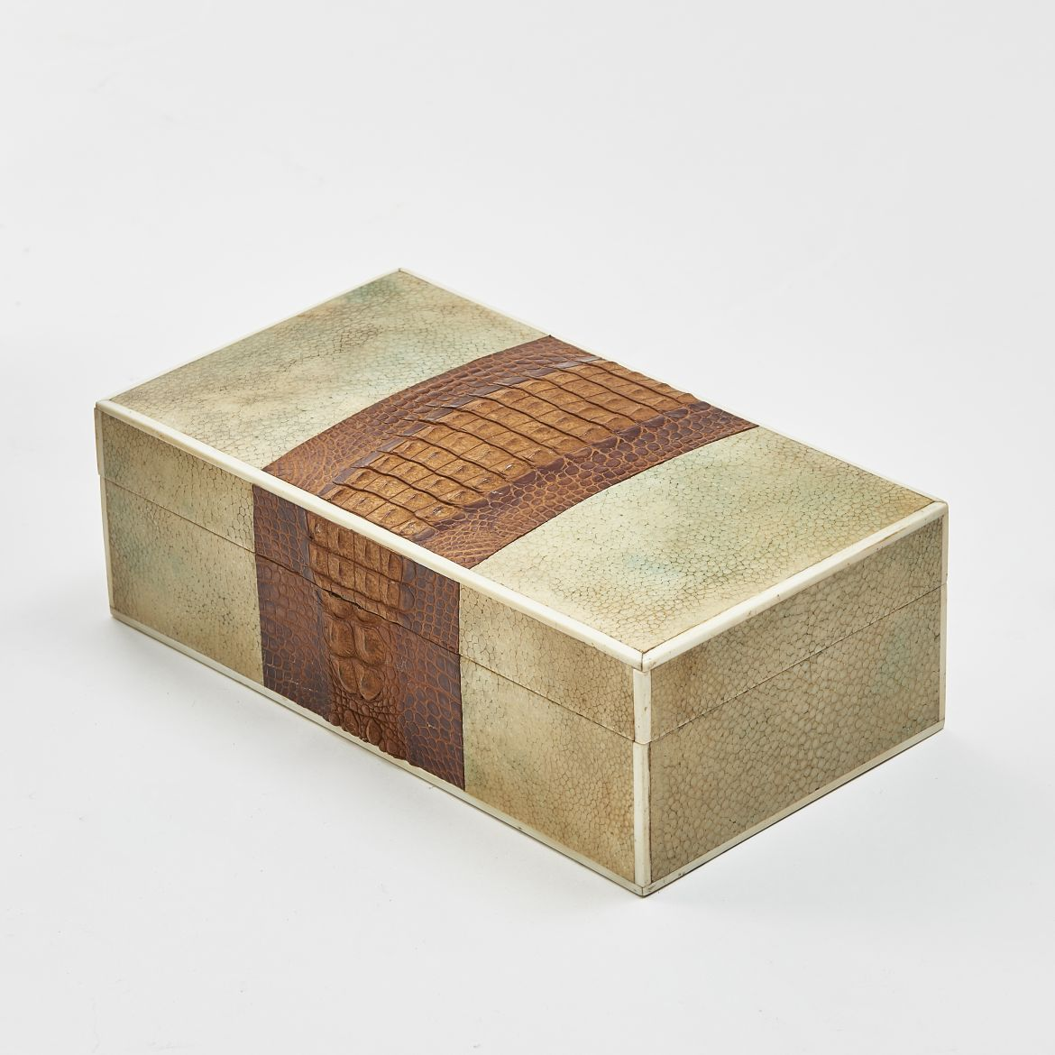 Deco Shagreen and Crocodile Box