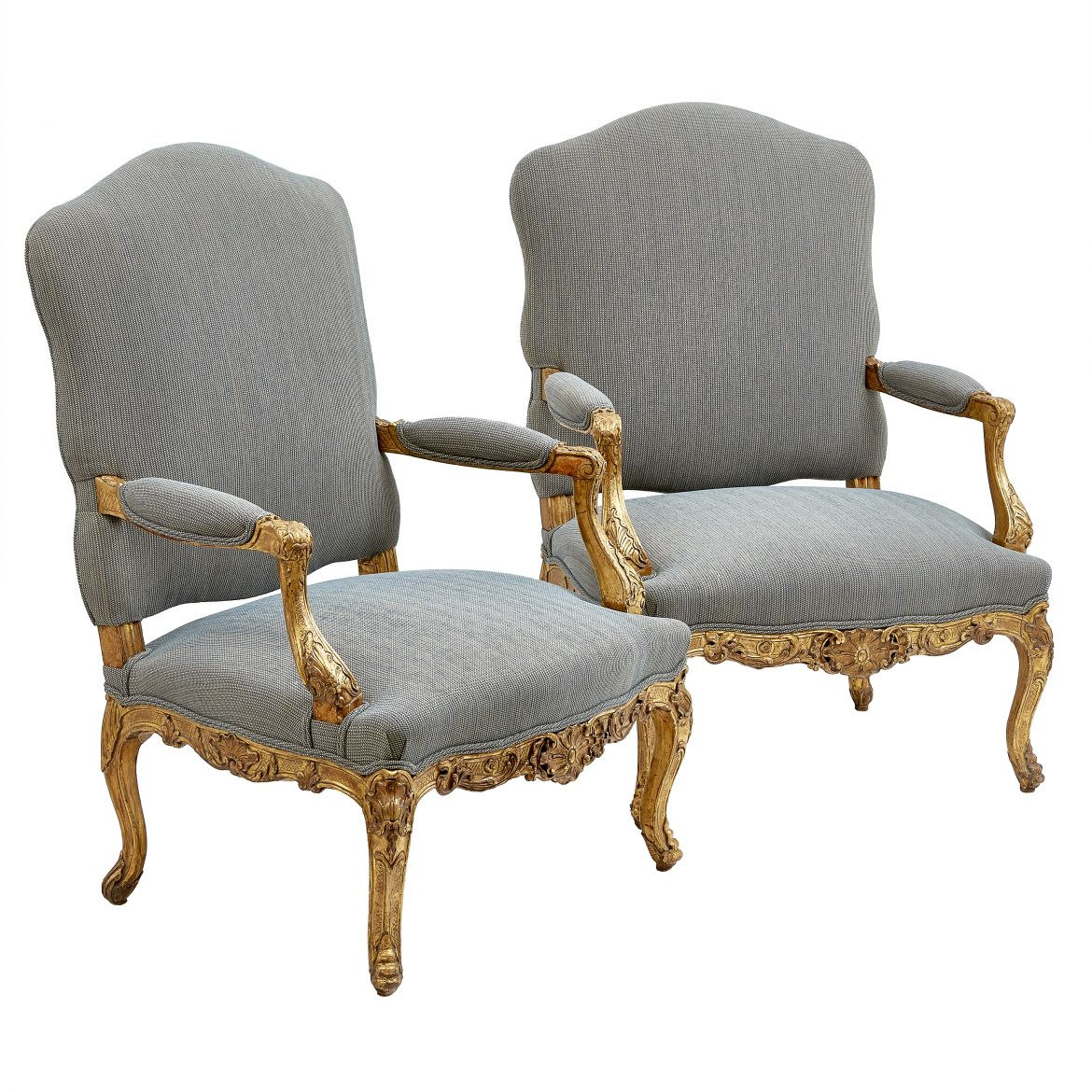 Pair Louis XV Style Armchairs