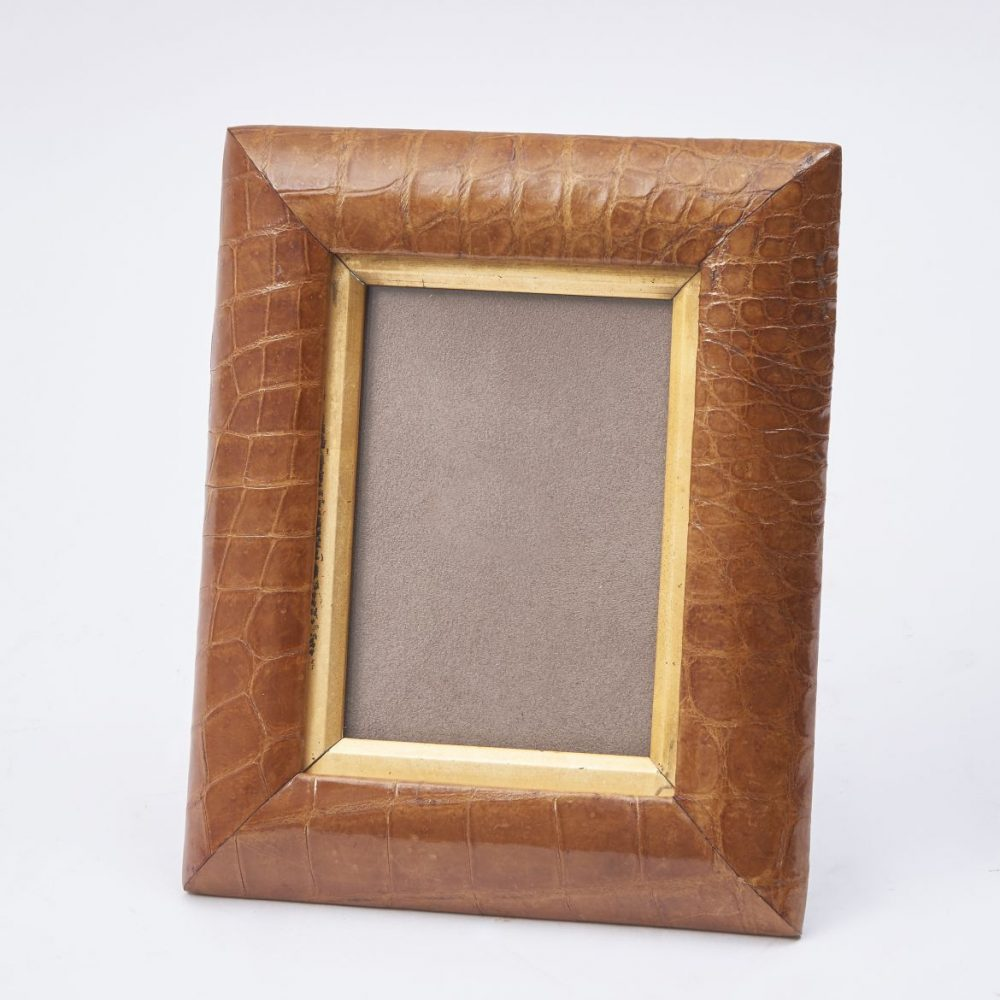 English Tan Crocodile Photo Frame