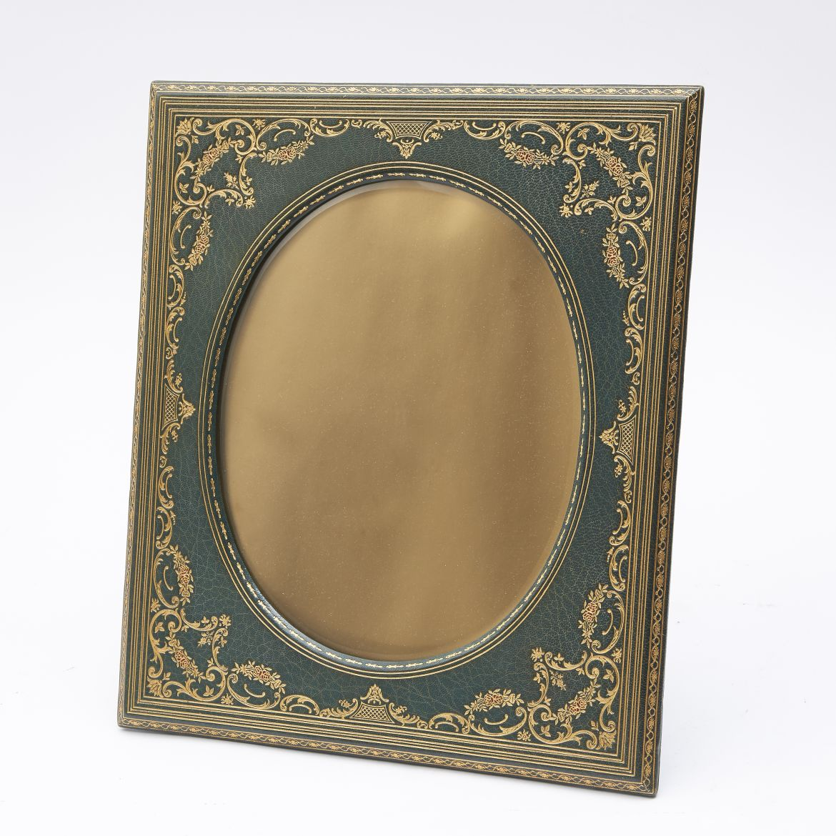 Tooled Green Leather Frame