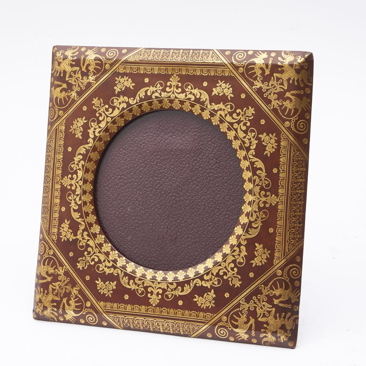Tooled Red Leather Frame