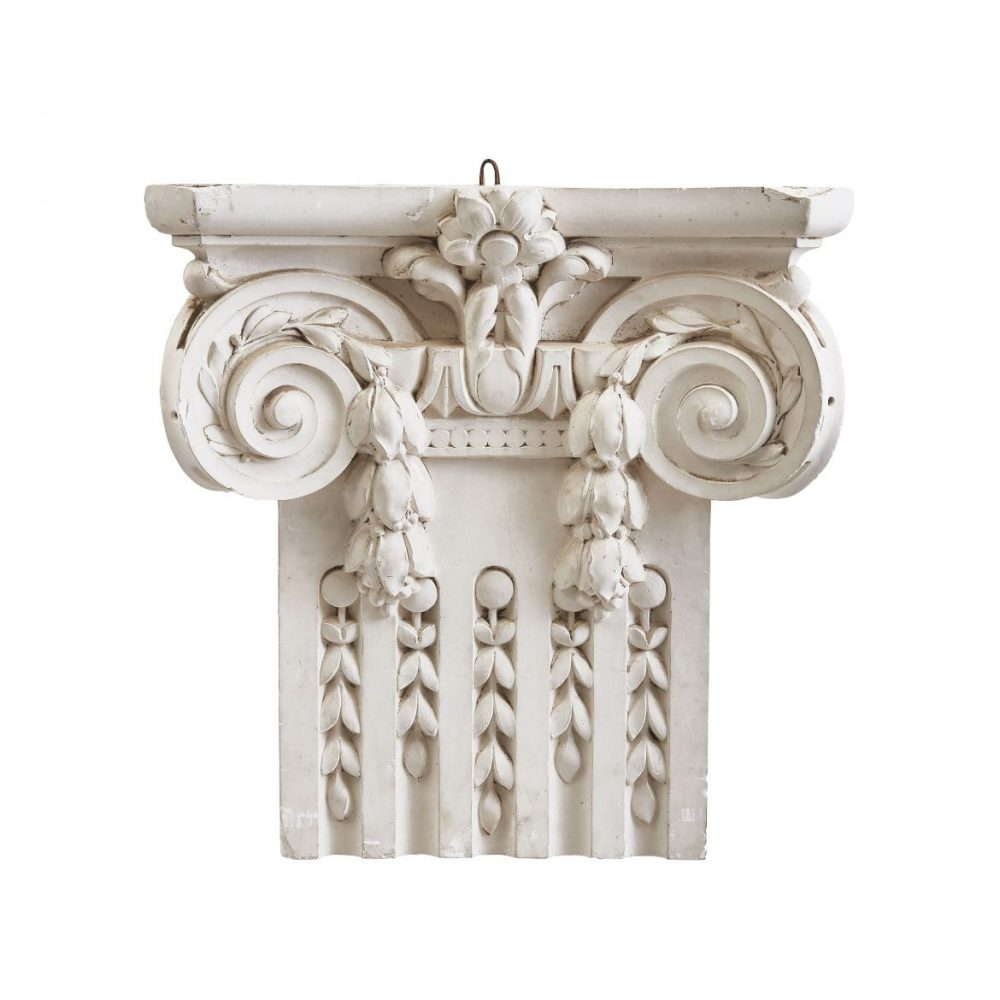 French Plaster Ionic Capital