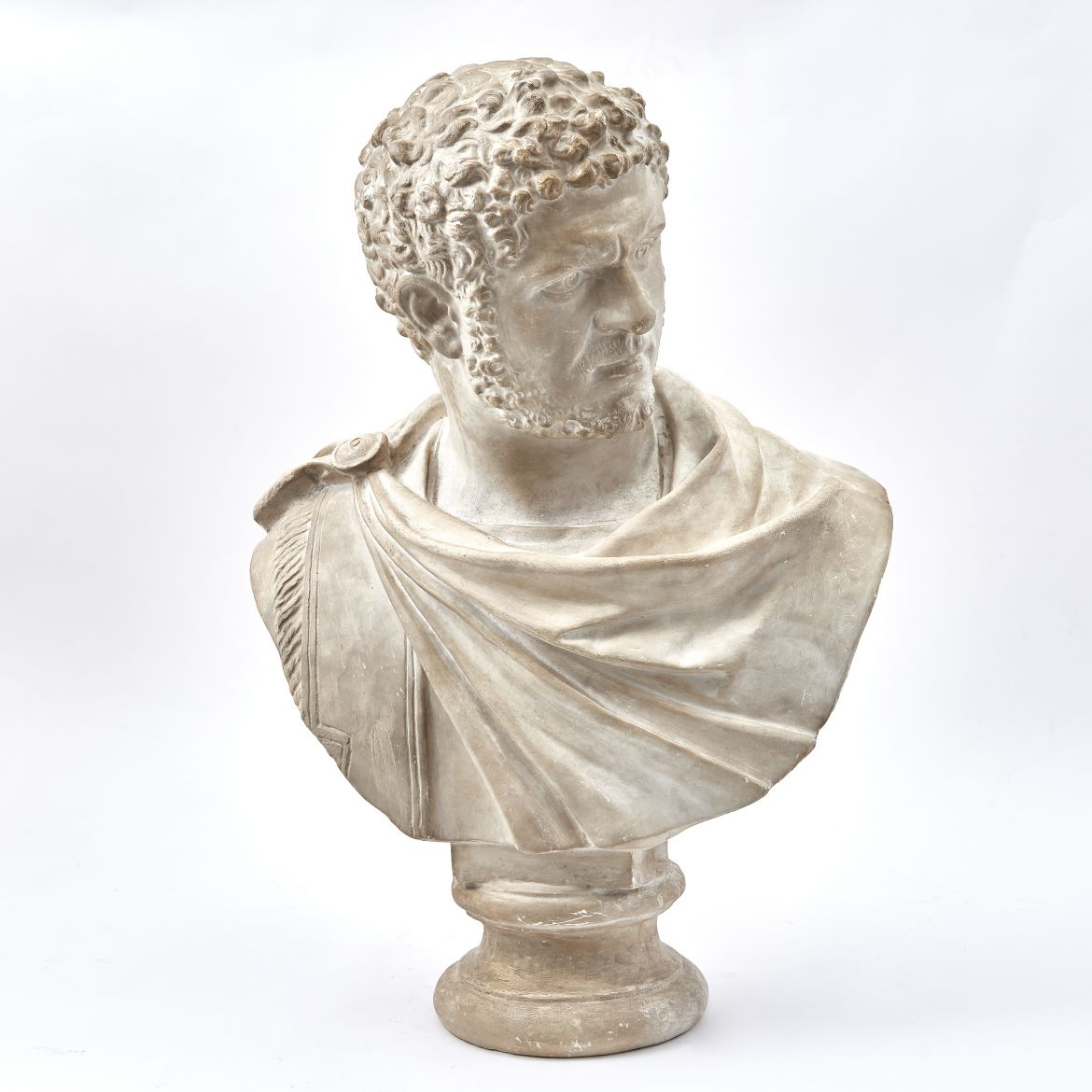 Plaster Bust Of Emperor Caracalla