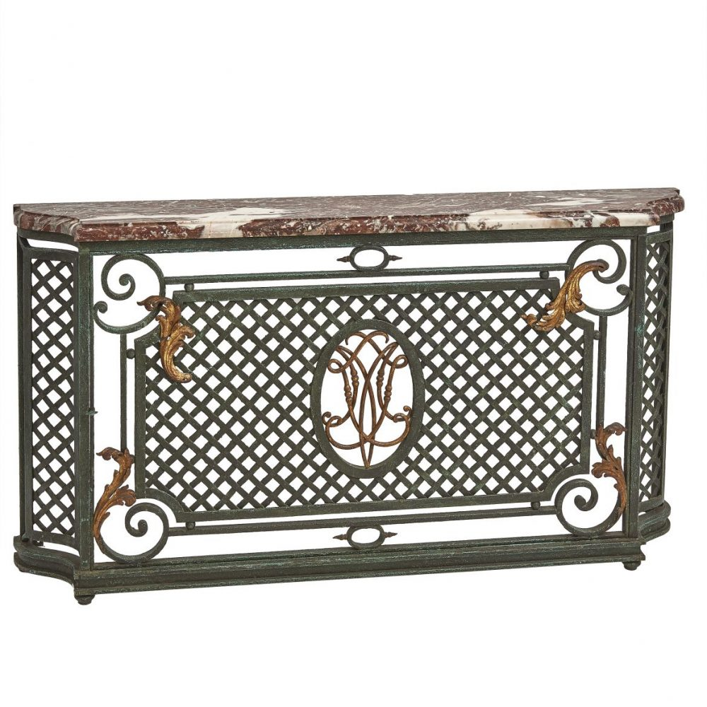 French Wrought Iron Radiator Cover