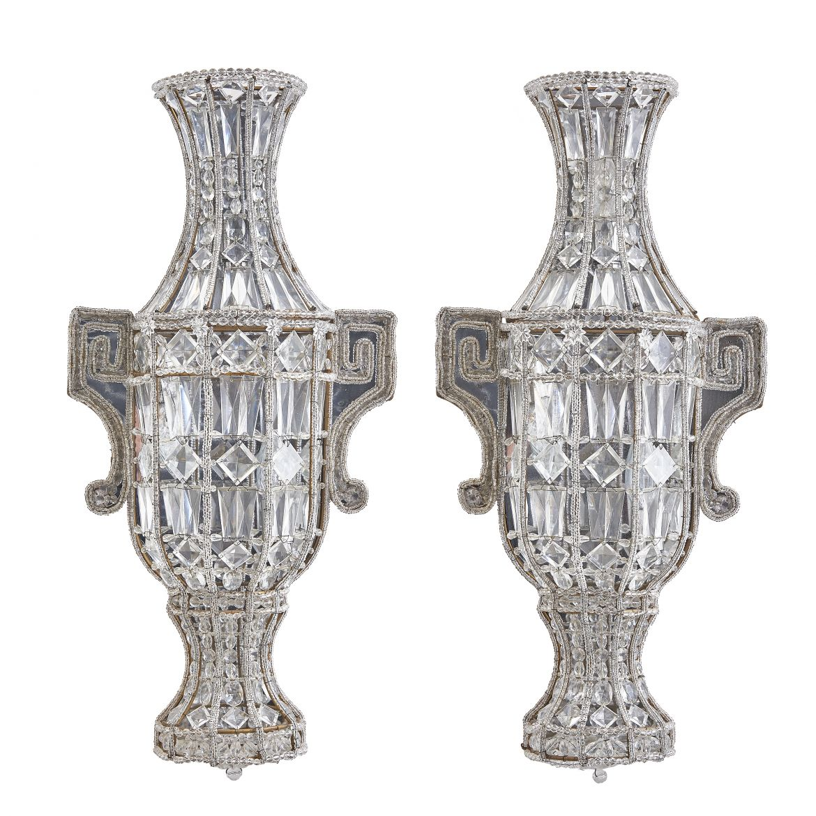 Sicilian Beaded Urn Sconces