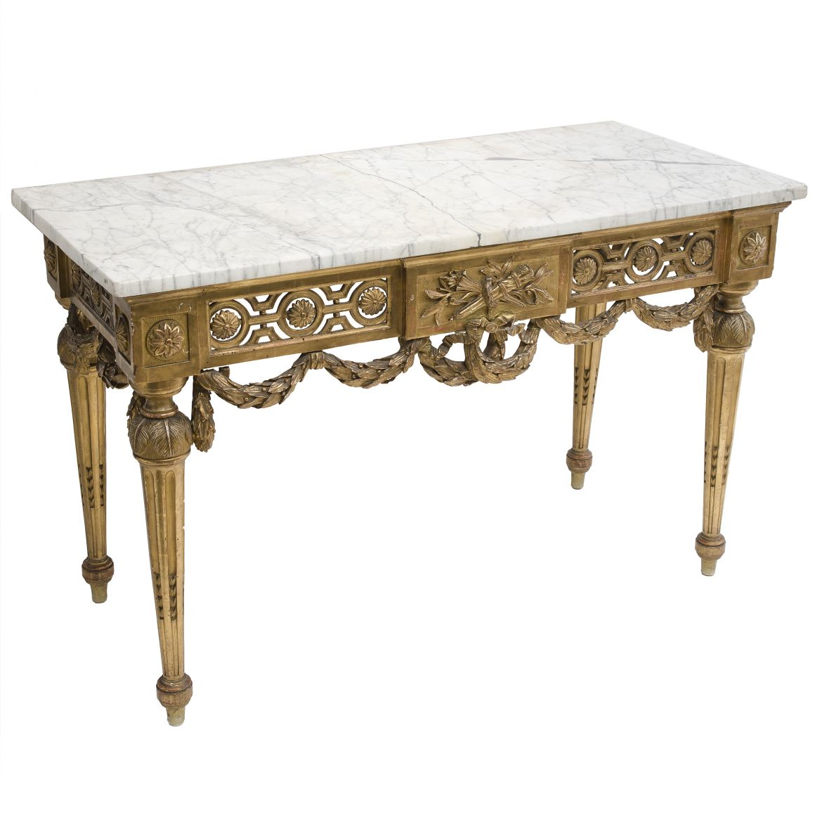 French Louis XVI Giltwood Console