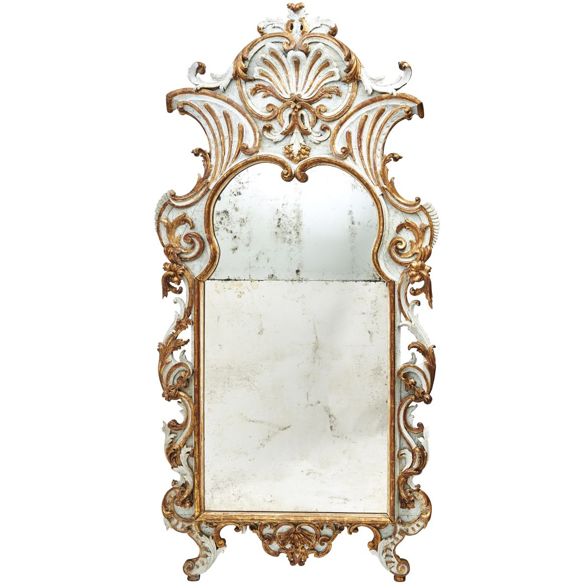 Parcel Gilt Baroque Mirror