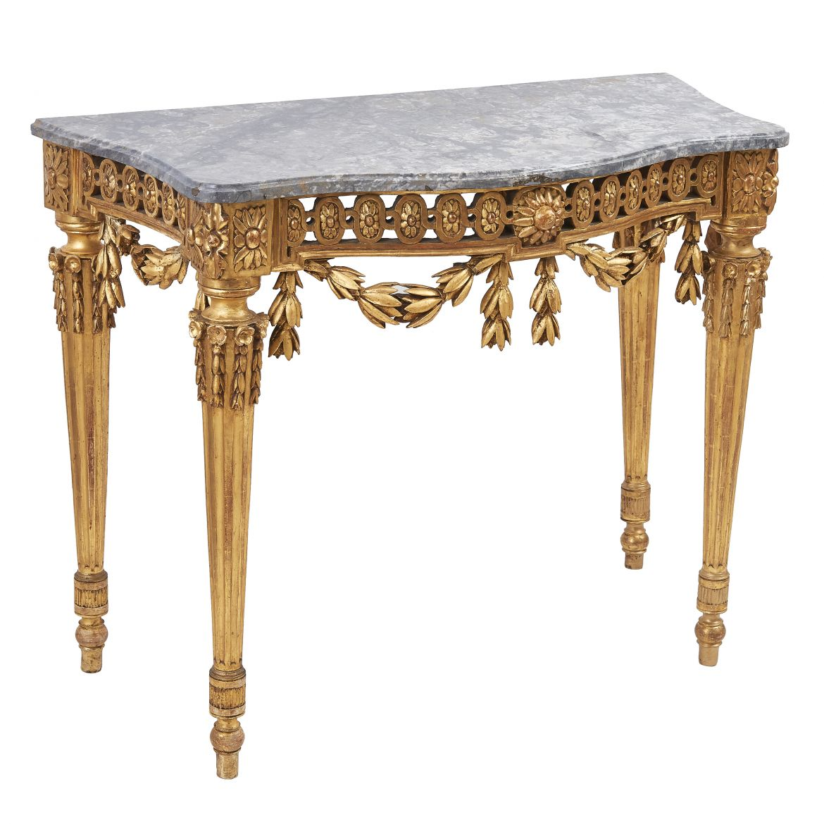 Italian Neoclassical Giltwood Console