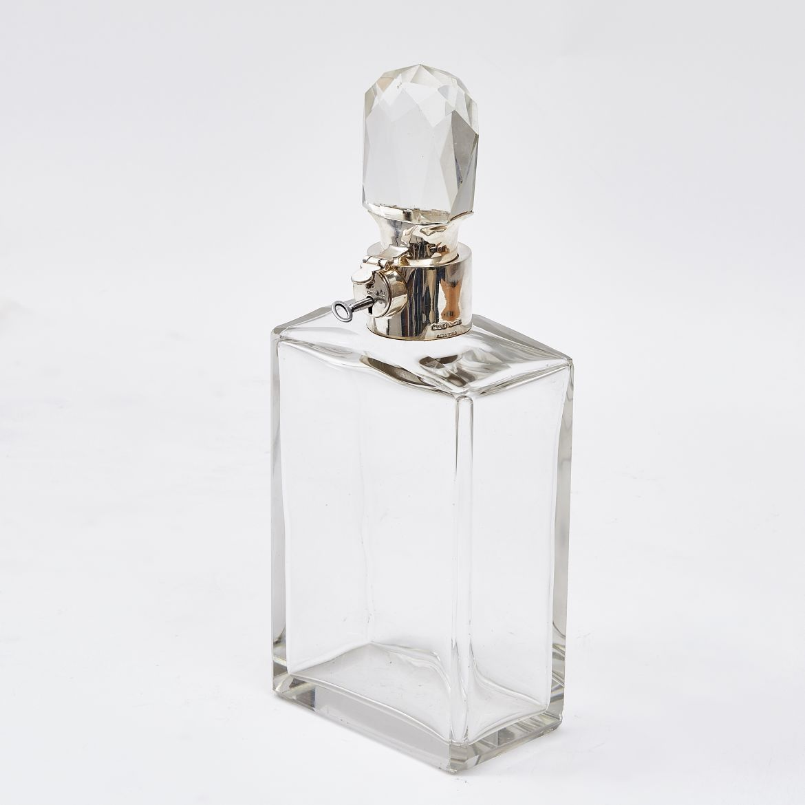 Hukin And Heath Silver Collar Locking Decanter