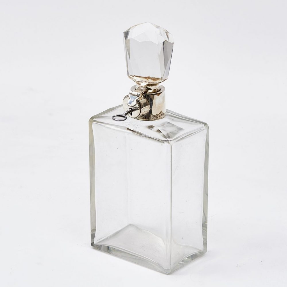 Hukin and Heath Silver Mounted Decanter