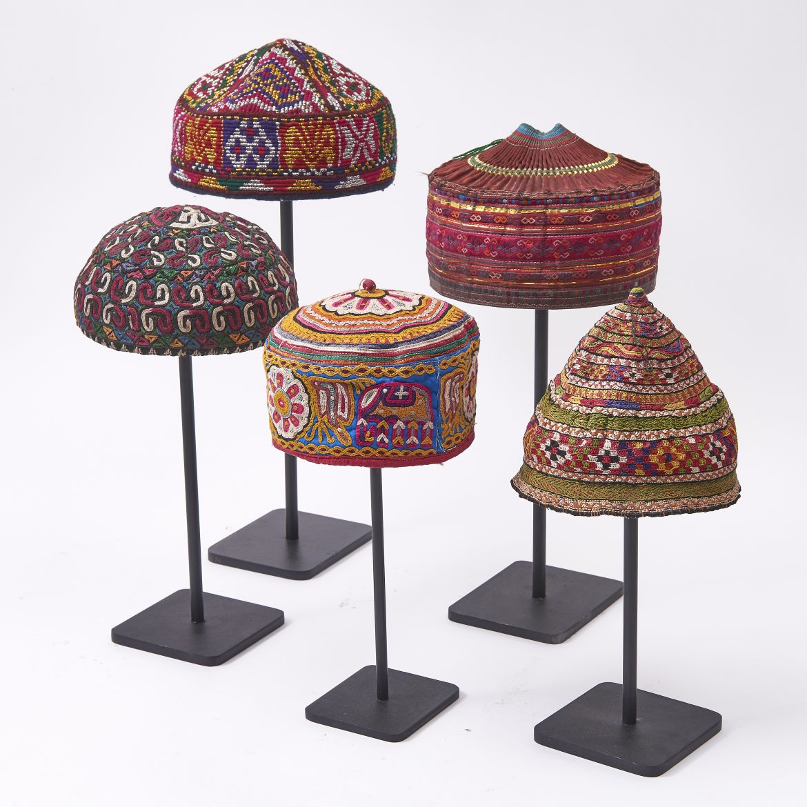 Collection of Colourful Uzbeck Hats