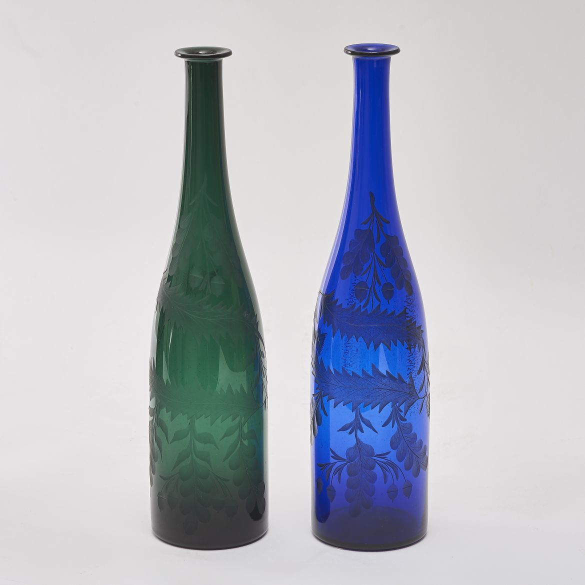 Victorian Engraved Carafes