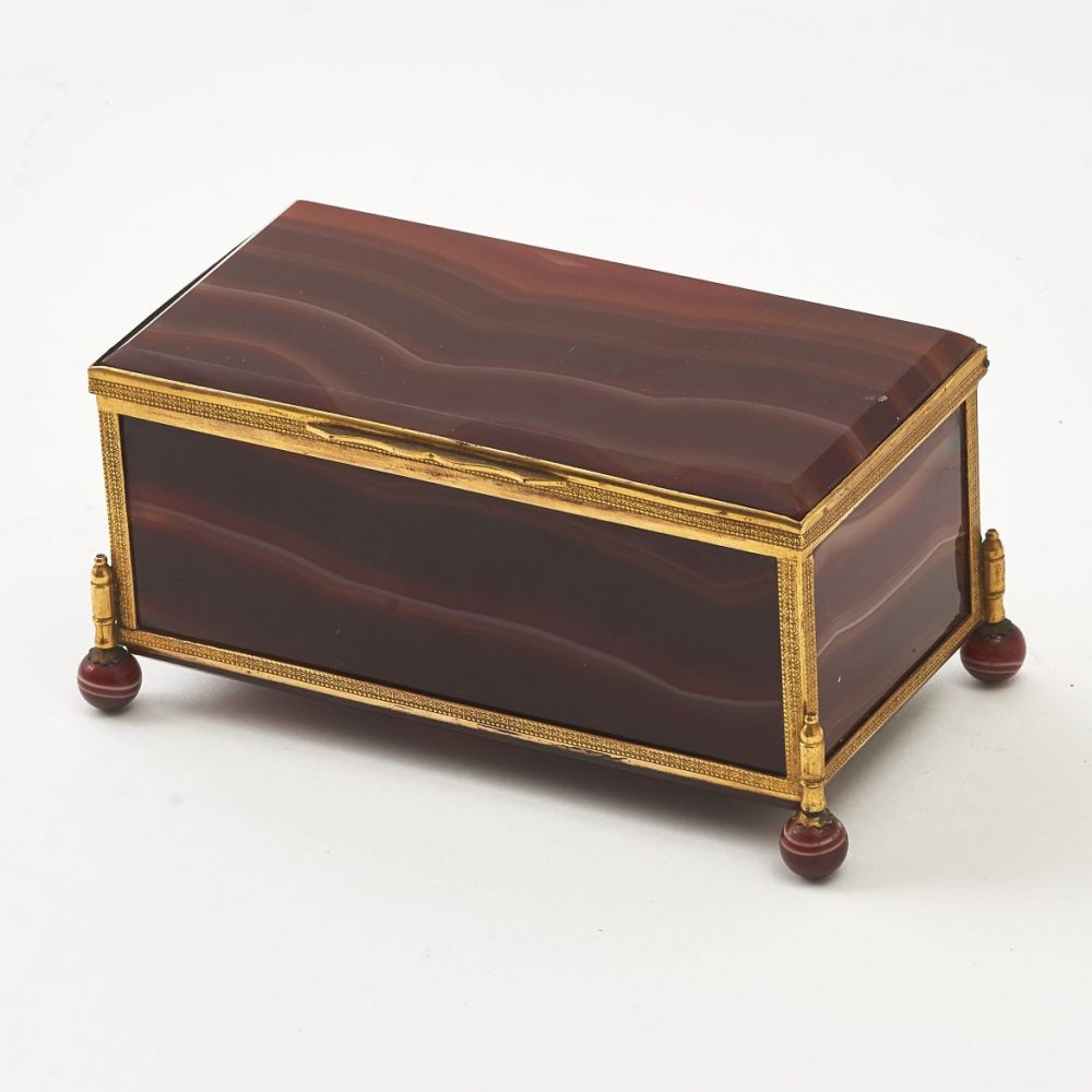 French Palais Royale Red Agate Box