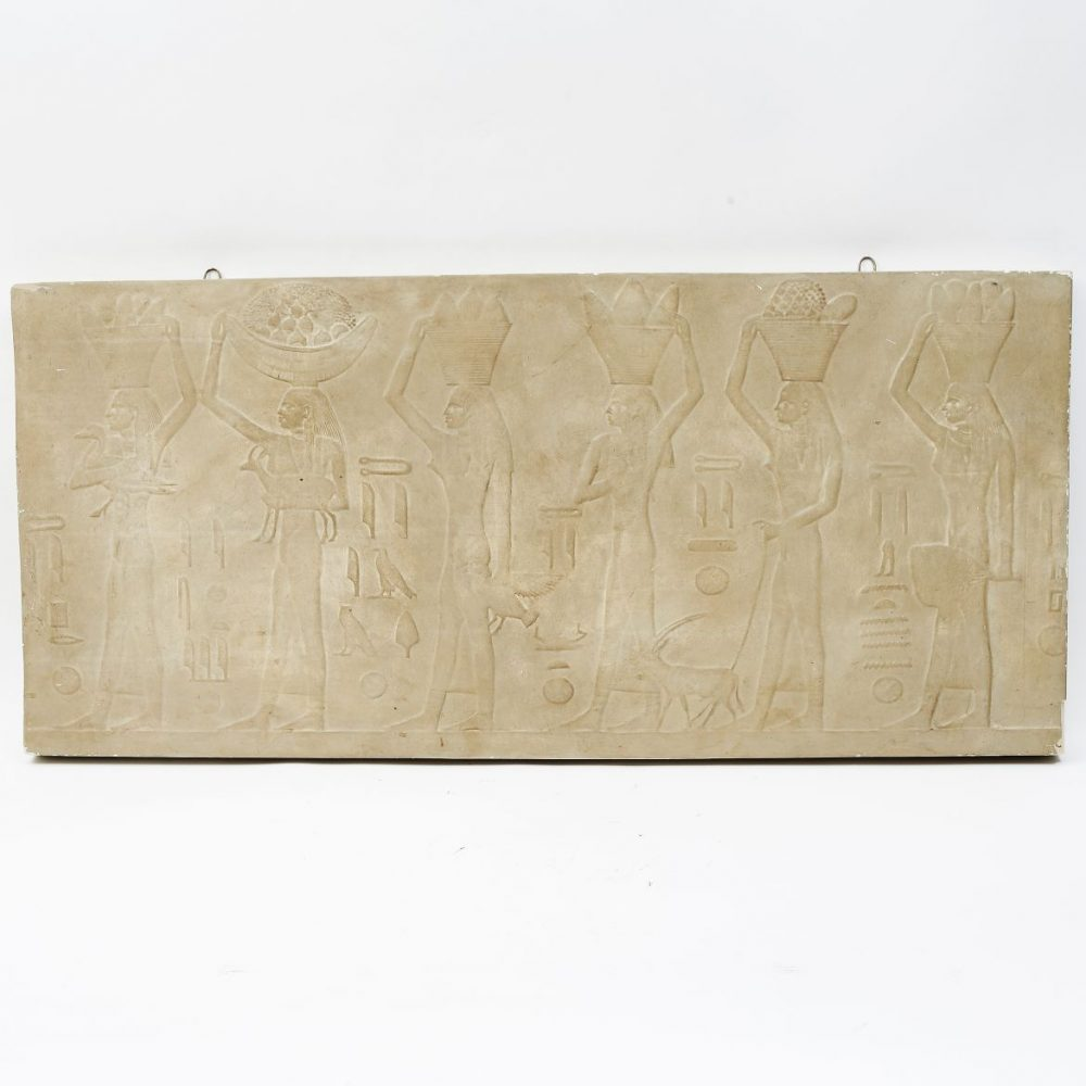 French Egyptianesque Plaster Relief