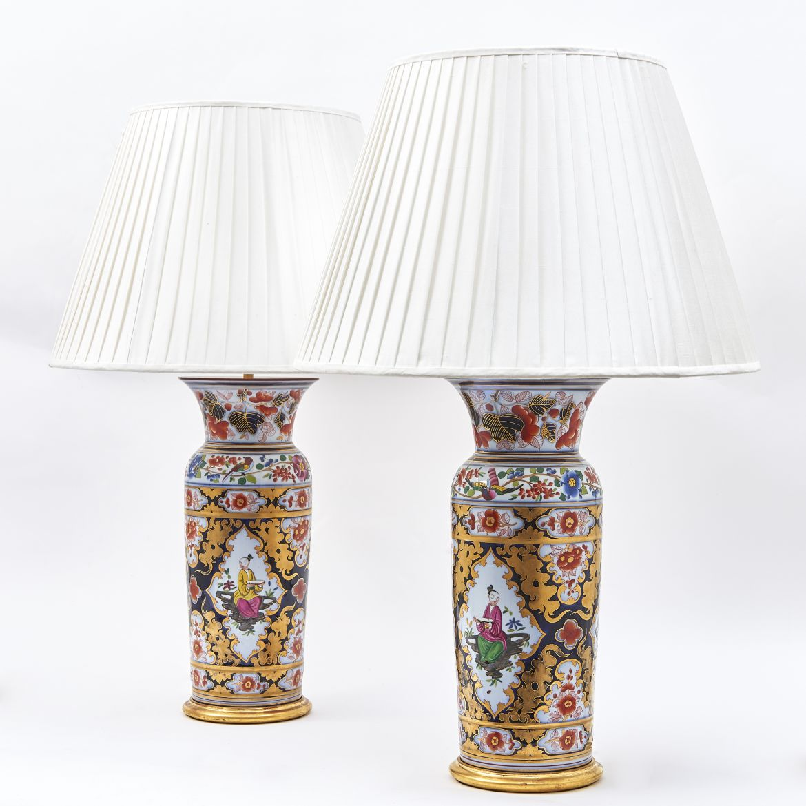 Pair Bayeux Vases as Lamps
