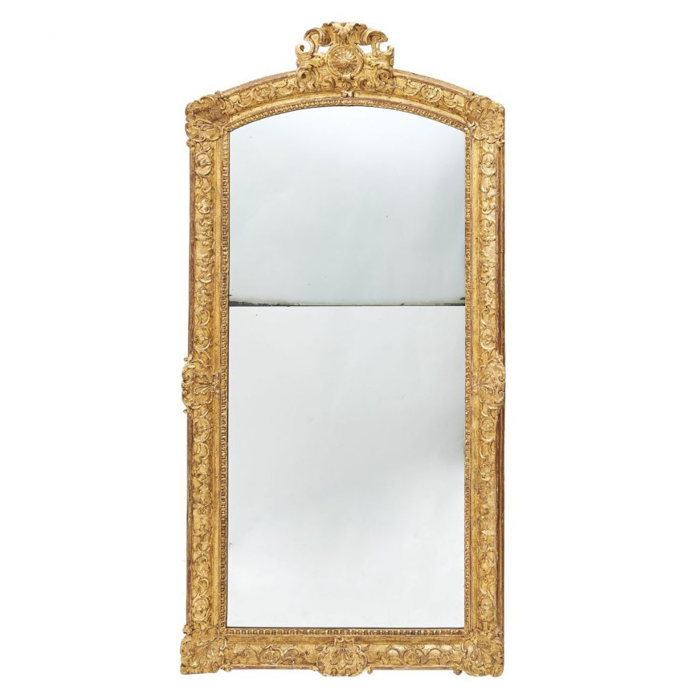 French Regence Rectangular Giltwood Mirror