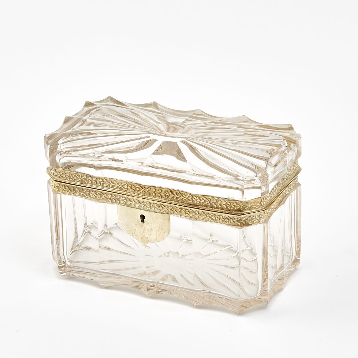Unusual Bohemian Glass Box
