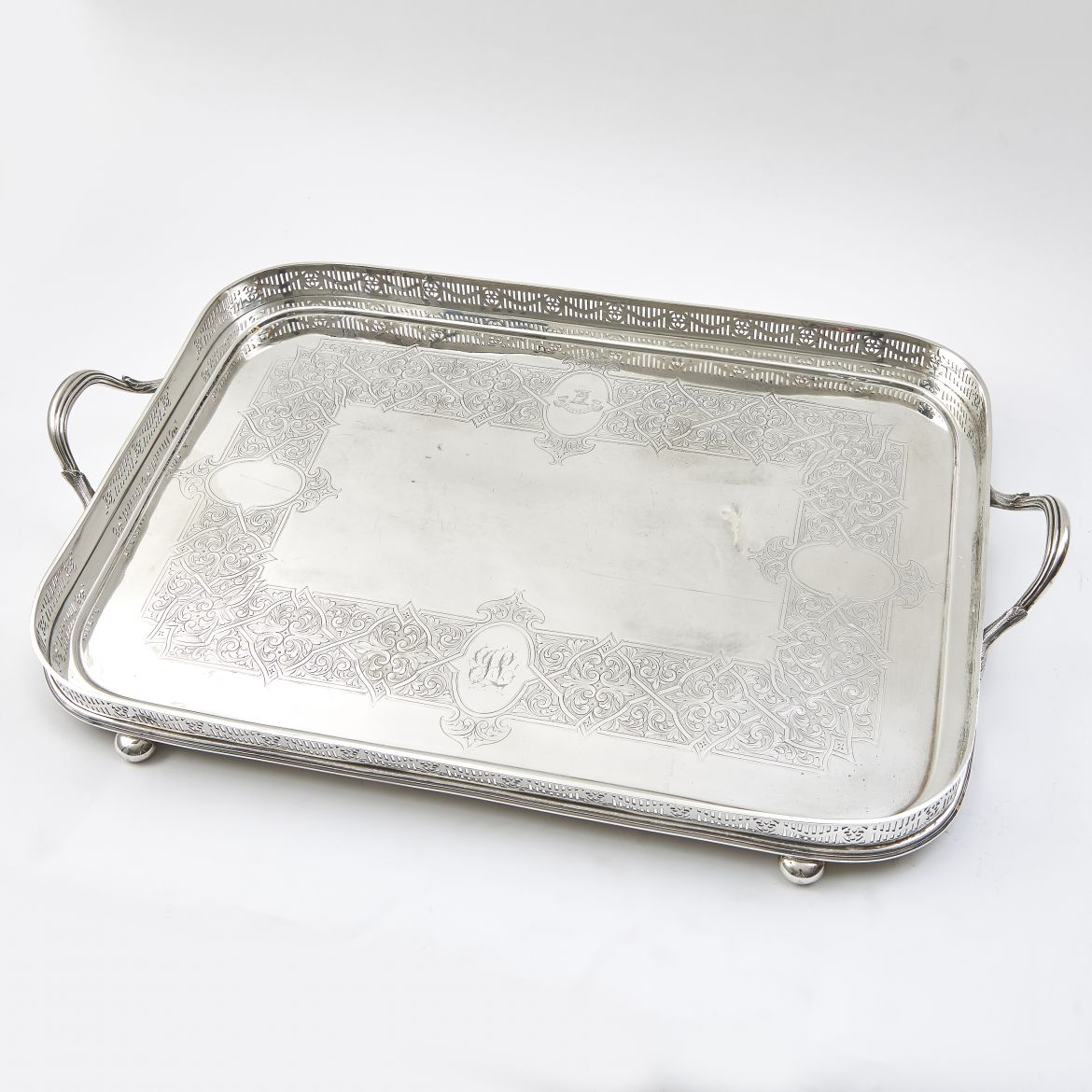 Late 19th Century Silver Plate Tray