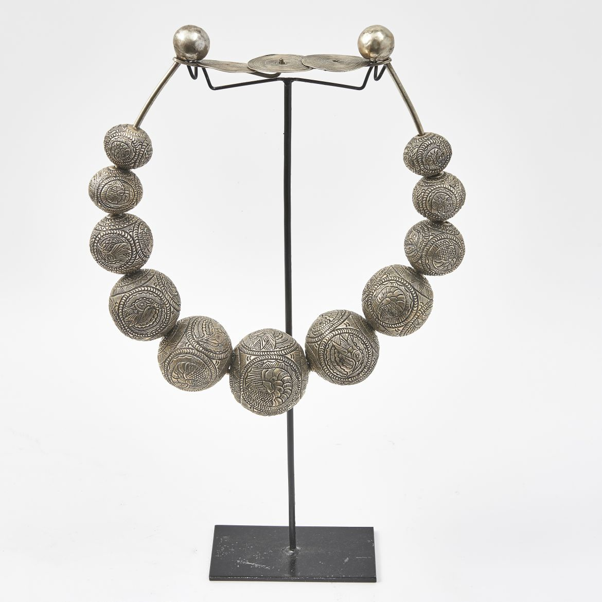 Chinese Metal Miao Necklace
