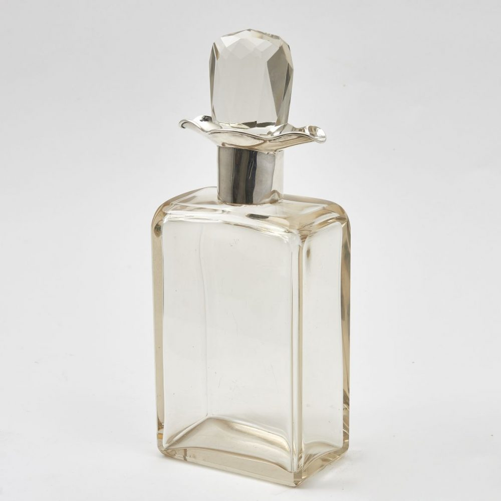 Art Deco Silver Mounted Crystal Decanter