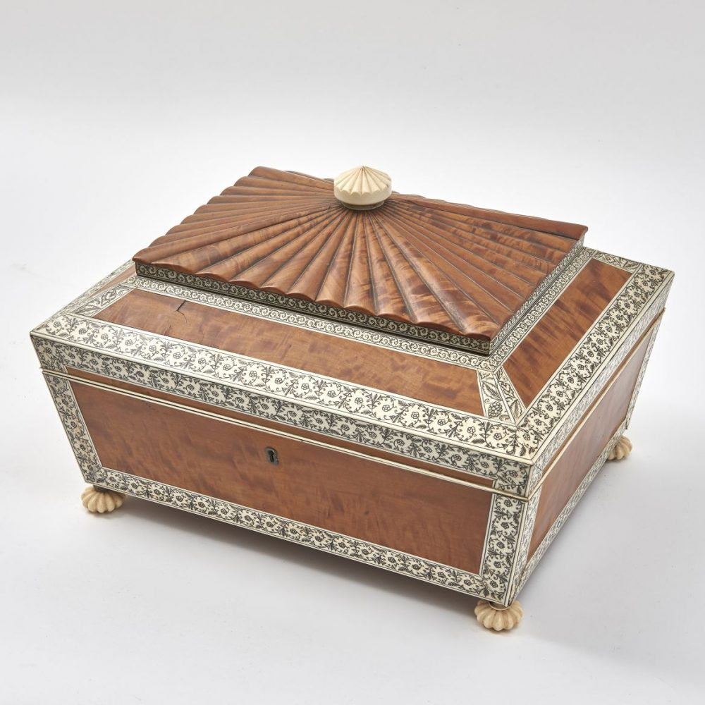 Anglo Indian Satinwood Workbox
