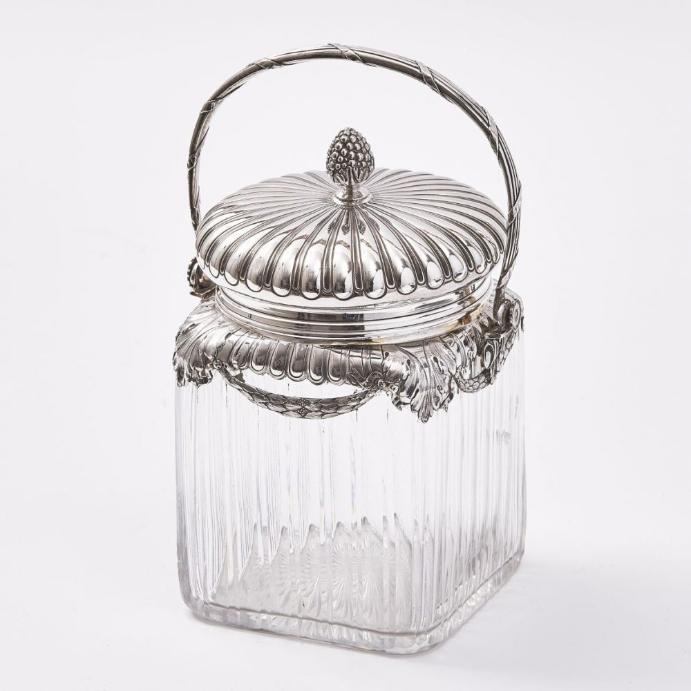 French Silver Mounted Pot