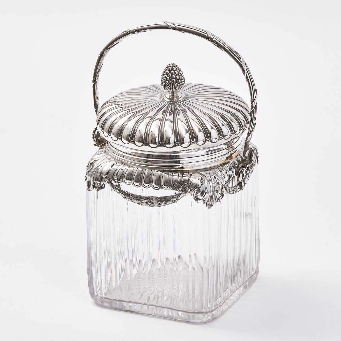 French Silver Mounted Jar