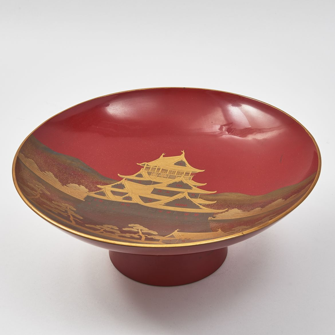 Japanese Red Lacquer Dish