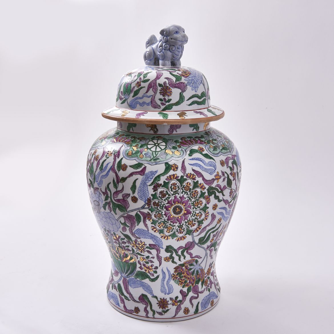 Decorated Chinese Temple Jar