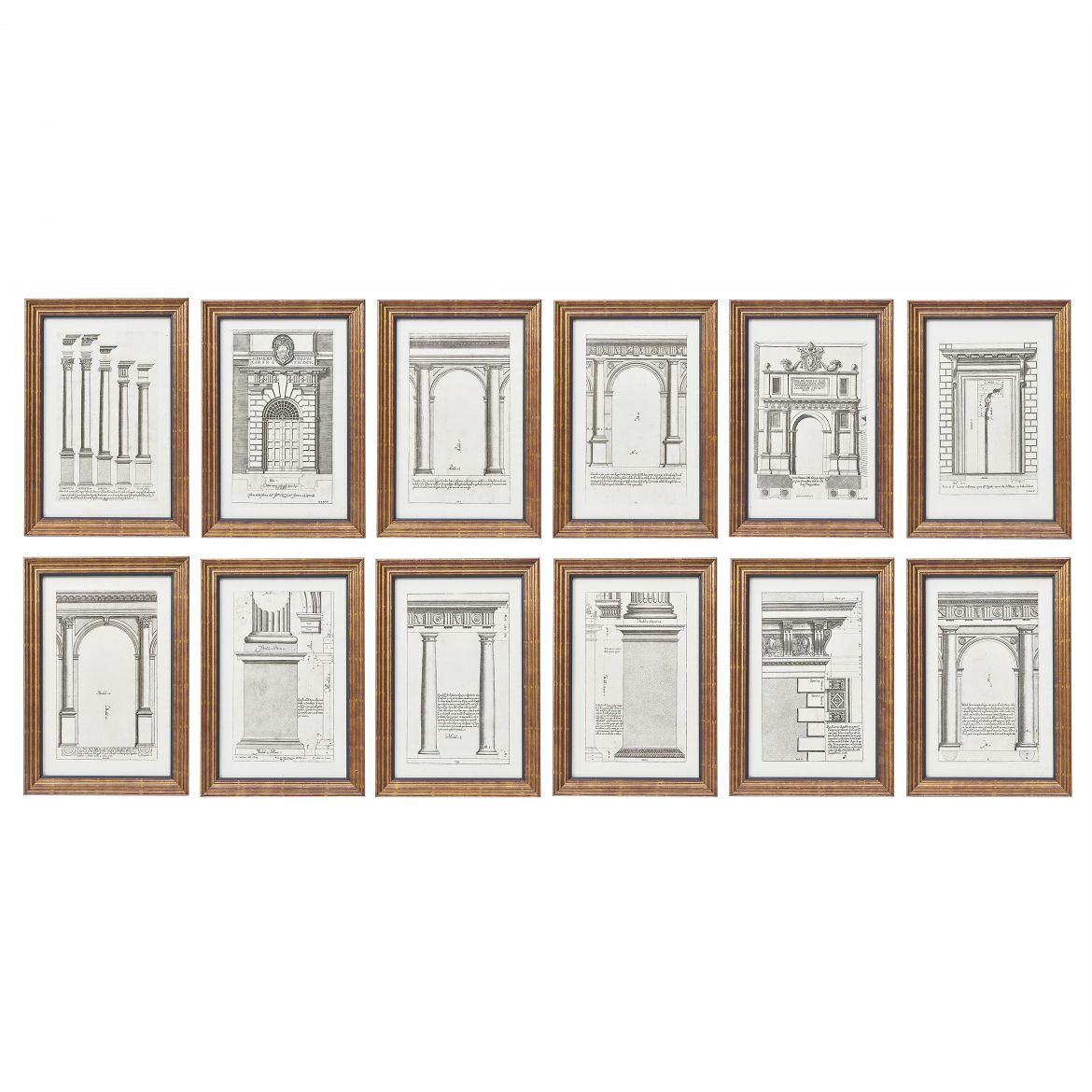 Set Twelve Architectural Prints