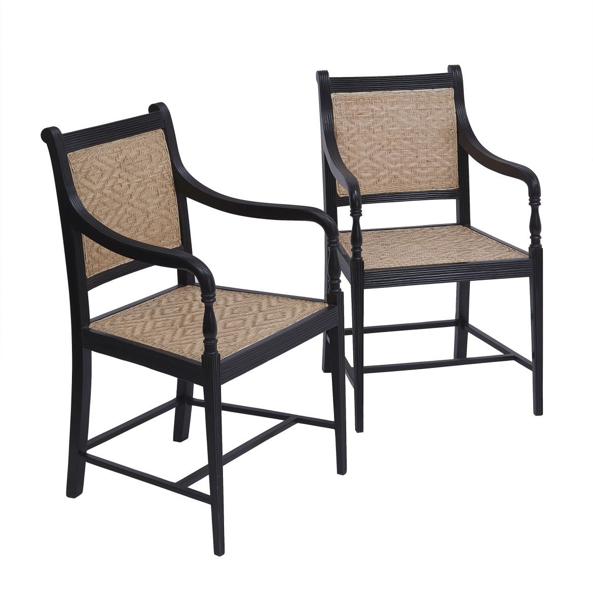 George III Style Anglo Indian Ebony Chairs