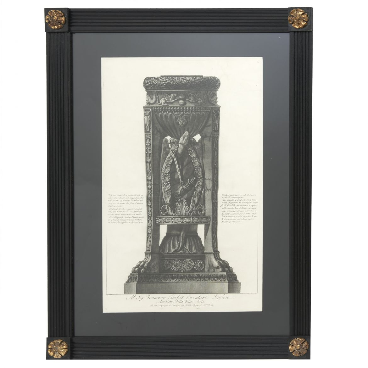 Piranesi Etching Of Marble Tripod