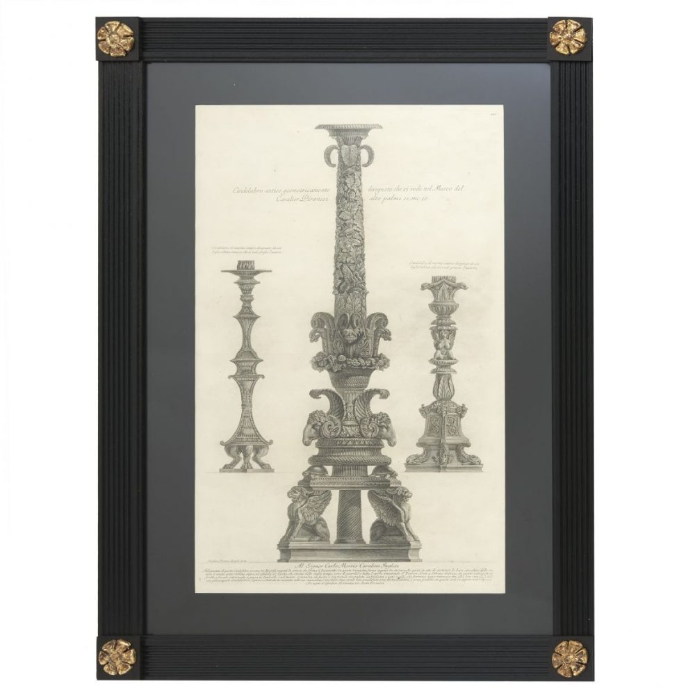 Piranesi Etching Of Three Candelabra